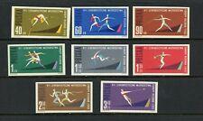 X062  Poland 1962  sports athletics  IMPERF  8v.    MNH