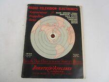 Vintage Burnstein Applebee Catalog Stereo Radio Electrical Refrigeration 1950