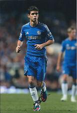 OSCAR Signed Autograph 12x8 Photo AFTAL COA Chelsea Premier League Striker RARE