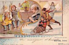 SELTEN Litho-Werbe-AK 1903@Fréres WAUTERS Belgien@Chocolat-Cacao Holland@Werbung