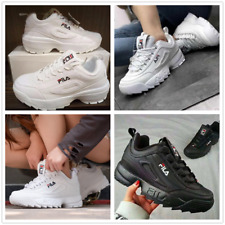 FILA Disruptor White / Black Women Athletic Shoes Uomo Sneakers Running Fitness