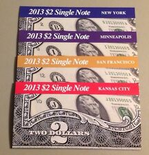 2013 $2 Single Note Collection ( B,I,L,J)Set Of FOUR NOTE.