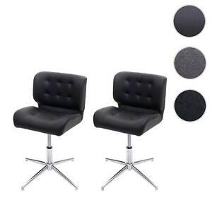 Set 2x sedie sala pranzo ufficio HWC-H42 girevole regolabile