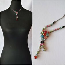 Gems and Flowers Short Party Necklace