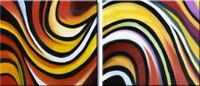 Colori africani quadro - Dipinto a olio telaio in legno