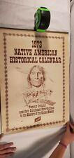 Schlitz 1973 Native American Historical Calendar Wall Hanging