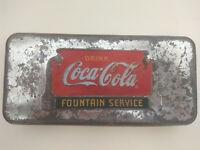 VINTAGE Coca - Cola - SODA  DRINK  FOUNTAIN SERVICE METAL CASE !!!