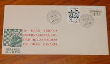 SPAIN CHESS SC COVER IV TORNEO AJEDREZ LAS PALMAS GRAN CANARIA 1975 RUY LOPEZ