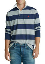 NWT MENS polo RALPH LAUREN LONG SLEEVE iconic CLASSIC RUGBY POLO SHIRT XLT GRAY