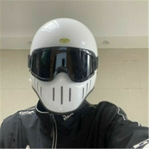 Japan TT&CO Full Face Helmet with Glasses Vintage Cool Rider Motorcycle Helmet