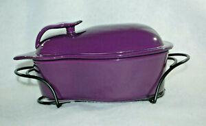 Cook Street Market Purple Eggplant 1.5 Qt Porcelain Casserole 4 Pc Set  M4761