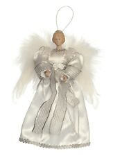 Christmas Tree Top 25cm White And Silver Feather Angel