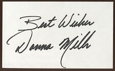 Donna Mills Signed Index Card Signature Vintage Autographed AUTO