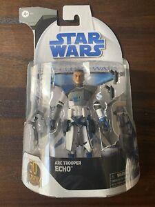 "Hasbro Star Wars Black Series Clone Wars 50th Anniversary 6"" Figure Echo In Hand"