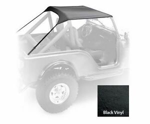 Smittybilt Standard Soft Top for Jeep CJ7 1976-1986  Vinyl Black SB90701