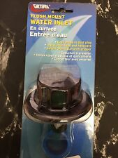 RV - Motorhome - City Water Inlet - Black - Plastic Check Valve & Cap Included