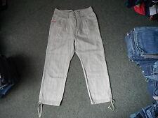 "Billa bong Sarouel Fit  Jeans Waist 32"" Leg 26"" Faded Light Grey Ladies Jeans"