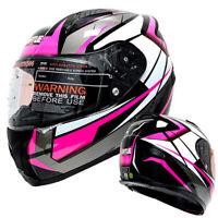 DOT Full Face Motorcycle Helmet w/Sun Visor Motocross Racing Sport Bike Helmet