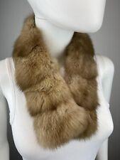 NEW RUSSIAN Golden Sable Real Fur Scarf Neck Warmer Coat Collar Men's Women's