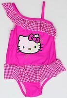 NWT Swimsuit Girls Hello Kitty Girl's Baby Toddler Swim Size 5T 5 Pink One Piece