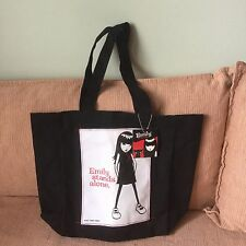 Borsa Emily The Strange In Cotone Nero Shopping Bag Shopper Punk