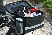 Cycling Black Bike Bicycle Handlebar Bar Bag Front Basket Quick Release Portable