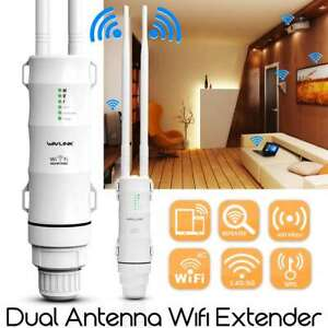 High Power Outdoor AC600 Wireless Repeater&Two Antenna for Wifi Signal Booster