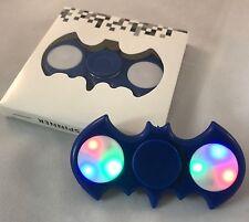 BLUE LED Light Batman Fidget Hand Spinner Stress Reduce Finger Game Desk Toy EEF