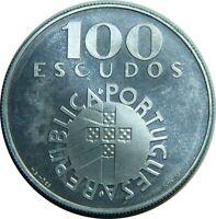 PORTUGAL 100 ESCUDOS 1974 KM#603 SILVER REVOLUTION 1974 PROOF LIKE T6