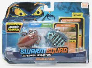 Swarm Squad Double Pack Motorized Bugs Wiggler Cockroach & Hopper LonghornBeetle