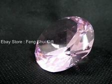 50mm Small PINK Big Large Crystal Cut Feng Shui Faceted Prism Glass Art Diamond