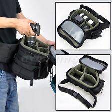 HOT Large Men Digital Cameras Shoulder Waist Bag Insert DSLR SLR For Canon Nikon