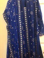 Indian Pakistani Wedding Dress Formal Wear Medium Size 3 Piece Mocaish Work Suit