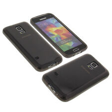 Funda para Samsung Galaxy S5 Handytasche Mini Protector de TPU Carcasa Goma Gris