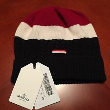 NWT MONCLER Gamme Bleu Thom Browne's Red Striped Wool Beanie