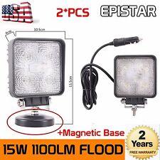 2X 15W Flood LED Work Light Handheld Driving Emergency Search Light 4wd 4X4 Jeep