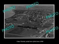 OLD LARGE HISTORIC PHOTO COLAC VICTORIA AERIAL VIEW OF THE TOWN c1930 1