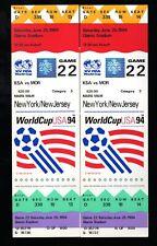 2 June 25, 1994 World Cup Full Tickets Saudi Arabia Vs Morocco FIFA