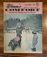 Vintage Women's Comfort Magazine Dec 1971 The Monthly Meeting Place For Women