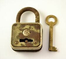 VINTAGE RARE METAL BULGARIA  PADLOCK WITH KEY
