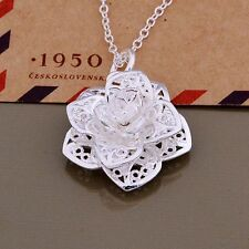 flower wedding Silver Plated Necklace fashion cute lady women hot sale   AN884