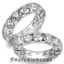 7.07 ct G Vs2 round natural ideal cut diamond woman wedding ring platinum size 7