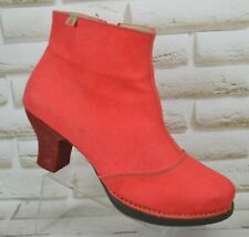 THE ART COMPANY Harlem Womens Red Heeled Boots Booties Shoes Size 9 UK 42 EU