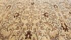 Rare Antique 1940-1950's Distressed Wool Pile Muted Dye Oushak Area Rug 7x10ft