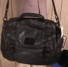 Juicy Couture Purse Bag Black Leather NEW Black Hardware Fringe Charms crossbody