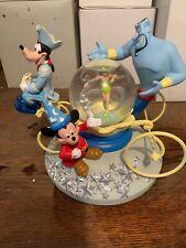 Walt Disney World's 25th Anniversary bola de nieve Mickey, Goofy, Genie, Tinkerbell