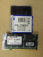 Kingston Laptop memory RAM DDR333 1GB PC2700 KTM-TP-9828/1G Lenovo FRU: 33R4967