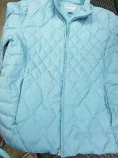 Pendleton Womens Down Puffer Jacket Large  baby blue Zip Up Sleeveless preowned