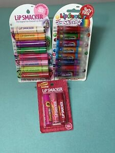 Lip Smacker Skittles, Tropical Party Pack & Starburst lip gloss / balm 19 pieces