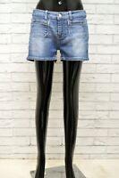 Bermuda Donna LEVIS Taglia Size 48 Pantaloncino Shorts Jeans Woman Cotone Blu